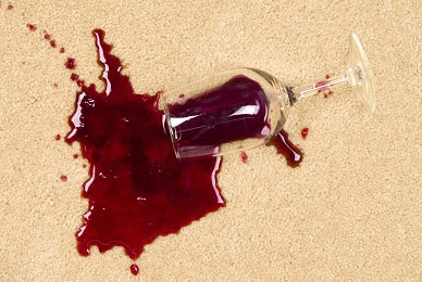 wine glass staining the carpet