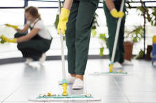 picture of cleaning mops on tile